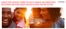 image shows text that reads: FAMILIES OVER FACILITIES