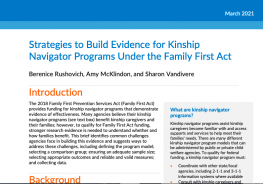 Strategies to Build Evidence for Kinship Navigator Programs Under the Family First Act